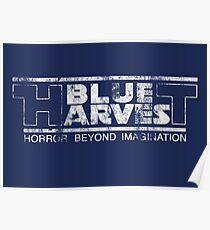 Blue Harvest distressed (white) Poster