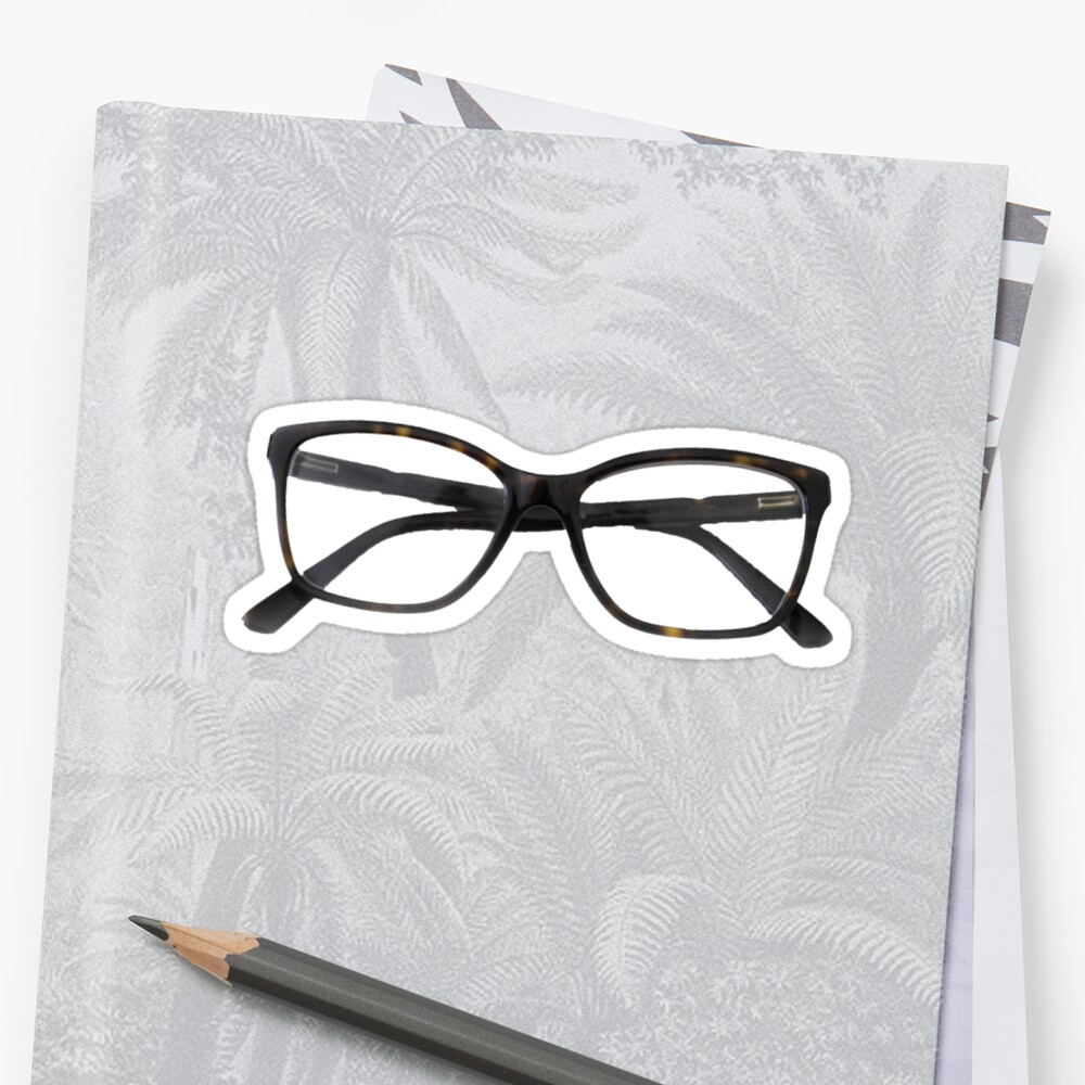Tortoiseshell Glasses Designer Sticker - Hipster/Trendy Fashion by Vrai Chic
