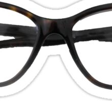 Tortoiseshell Glasses Designer Sticker - Hipster/Trendy Fashion Sticker