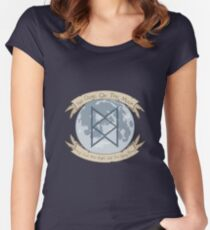 No Dogs On The Moon Women's Fitted Scoop T-Shirt