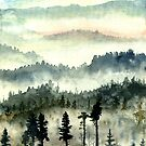 Mountain Mist: watecolor painting by brabikate