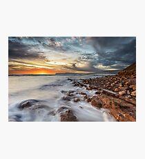 Compton Bay Sunset Isle Of Wight Photographic Print