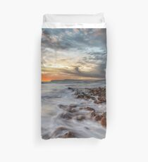 Compton Bay Sunset Isle Of Wight Duvet Cover