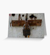 padlock Greeting Card
