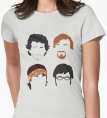 Flight of the Conchords Silly-ettes: 4-up Women's Fitted T-Shirt