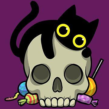 Cat Skull Sweets Halloween by WildSally