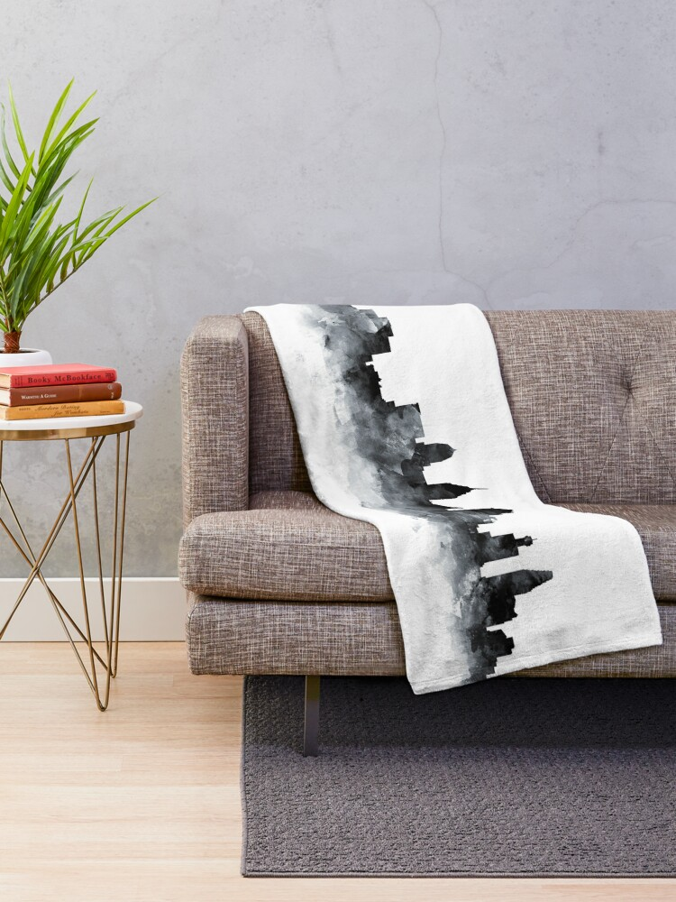 Alternate view of Philadelphia Skyline Throw Blanket