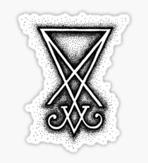 Sigil Of Lucifer - Black Sticker