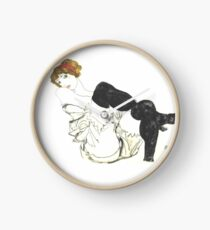 "Egon Schiele ""SWoman in Black Stockings"", 1913 Clock"