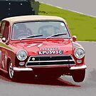 Lotus Cortina at Goodwood by Paul Bailey
