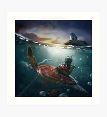 """The Diving Lesson"" Art Print"