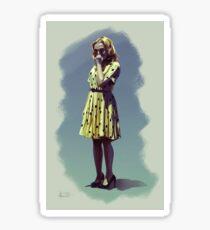 """Blanche Dubois n°2 """"yellow"""" Sticker"""