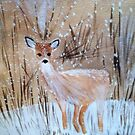 Deer in the Snow by Charisse Colbert
