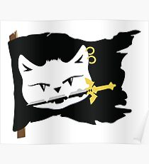 Argh! Be a pirate Cat Flag! Poster