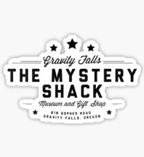 The Mystery Shack Black on White Sticker