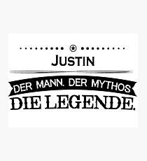 Mythos Legende Vorname Justin Photographic Print