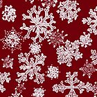 Snowflakes (red) by AdrianaMijaiche
