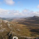View from Errigal Mountain Donegal Ireland by mikequigley