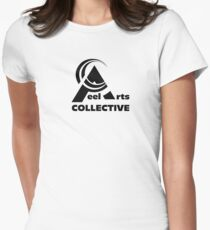 Peel Art Collective - Black - Full Logo Women's Fitted T-Shirt