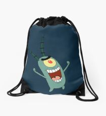 Sheldon J. Plankton Drawstring Bag