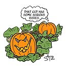 Jack the pumpkin has an attitude by Crowden