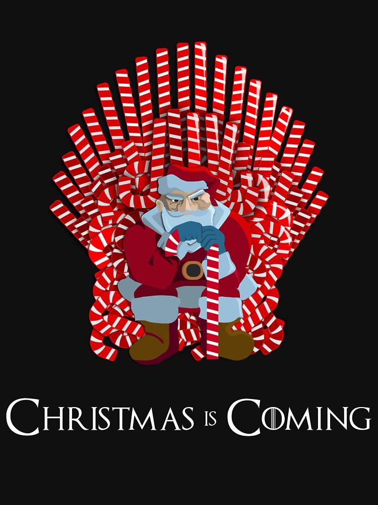 Weihnachten kommt Santa auf Candy Cane Thron von urbnduck