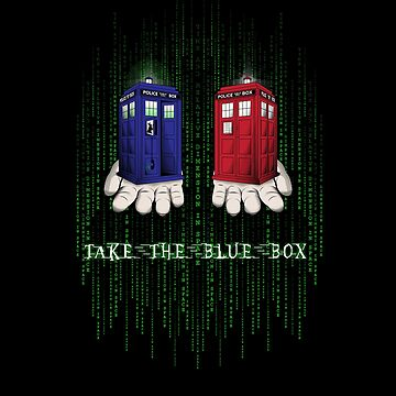 Take The Blue Box by SwanStarDesigns