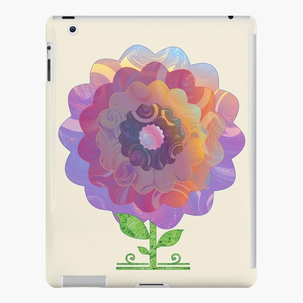 PetrolGolden Flower iPad Case & Skin