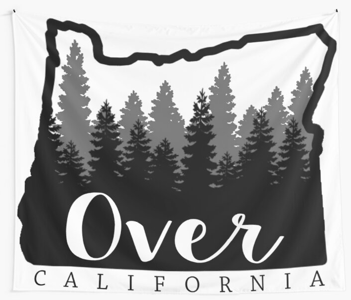 Oregon is over California by AshleyMakes