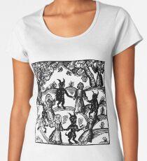 Camiseta premium de cuello ancho Bailar con el demonio