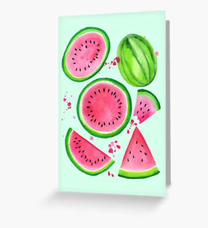 Nice Melons - Mint Greeting Card