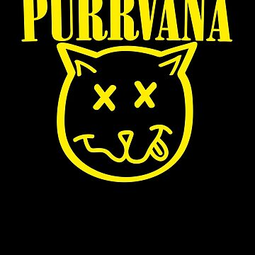 Purrvana Cat Parody by funnytshirtstee