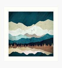 Fall Forest Night Art Print