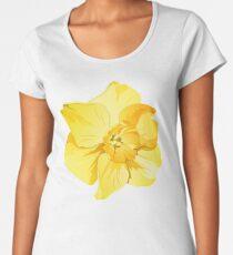 Gelbe Frühlings-Narzissen-Grafik Frauen Premium T-Shirts