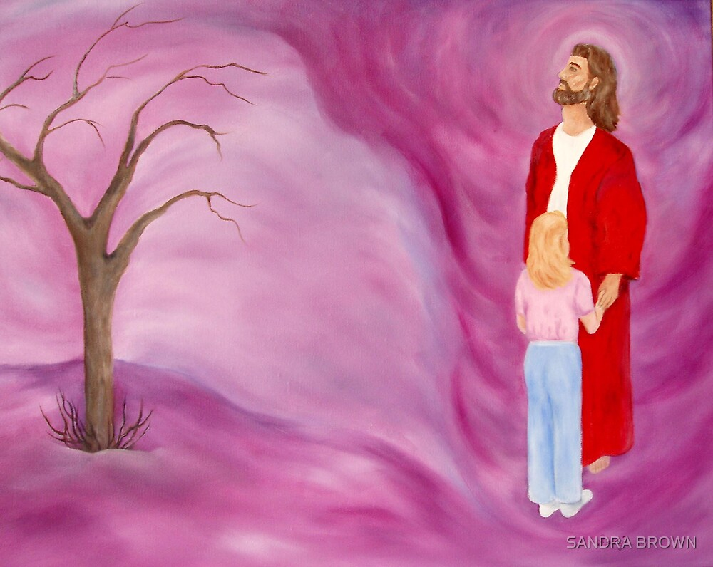JESUS IN THE TORNADO OF LIFE ORIGINAL OIL PAINTING by SANDRA BROWN