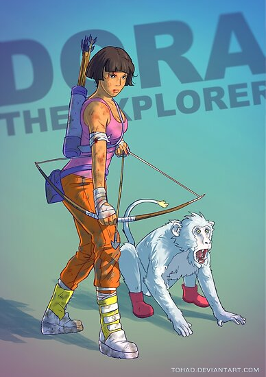 Dora the explorer BADASS by Sylvain Sarrailh
