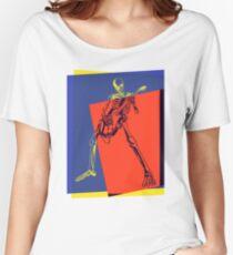 Pop Art Skeleton Rocker Women's Relaxed Fit T-Shirt