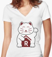 Cat shirt for Cat Shirt Fridays Women's Fitted V-Neck T-Shirt