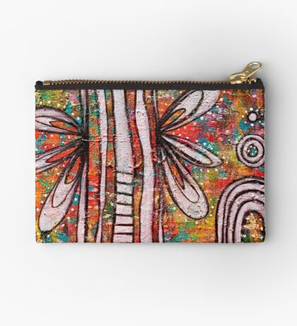 Angelic Excitement - an Anahata Code infused intuitive painting Studio Pouch