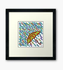 The Years Are Falling By Like The Rain ['Hello', Oasis] Framed Print