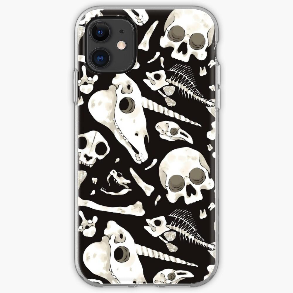 black Skulls and Bones - Wunderkammer iPhone Case & Cover