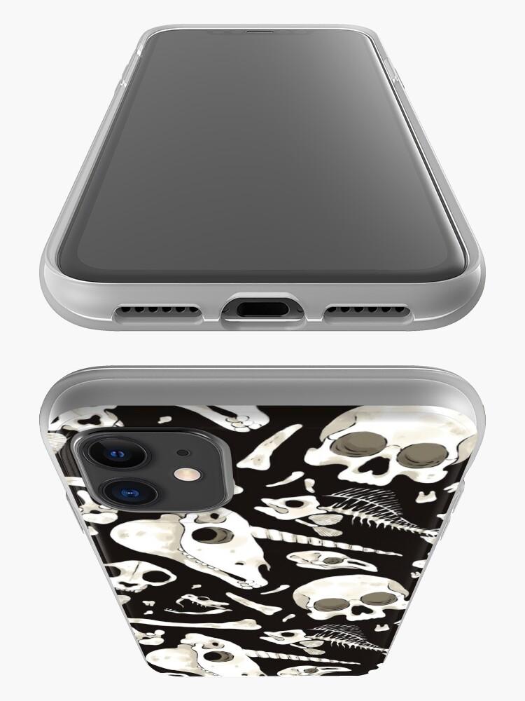 Alternate view of black Skulls and Bones - Wunderkammer iPhone Case & Cover