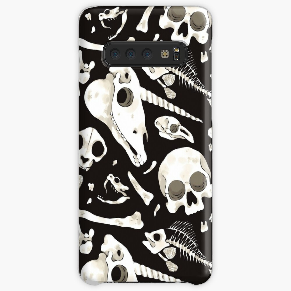 black Skulls and Bones - Wunderkammer Case & Skin for Samsung Galaxy