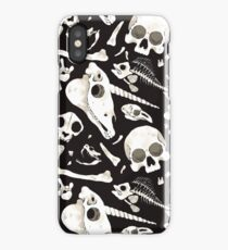 black Skulls and Bones - Wunderkammer iPhone Case
