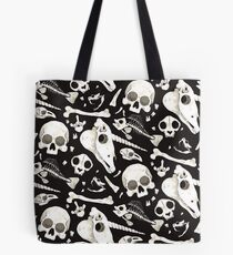 black Skulls and Bones - Wunderkammer Tote Bag