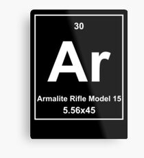 AR Element Dark Metal Print