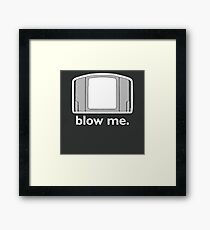 Blow Me - cartridge, funny.  Framed Print