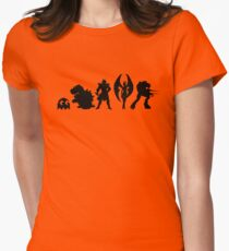It's Evilutionary  Womens Fitted T-Shirt