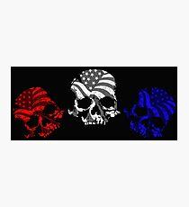 American Skulls RWB  Photographic Print