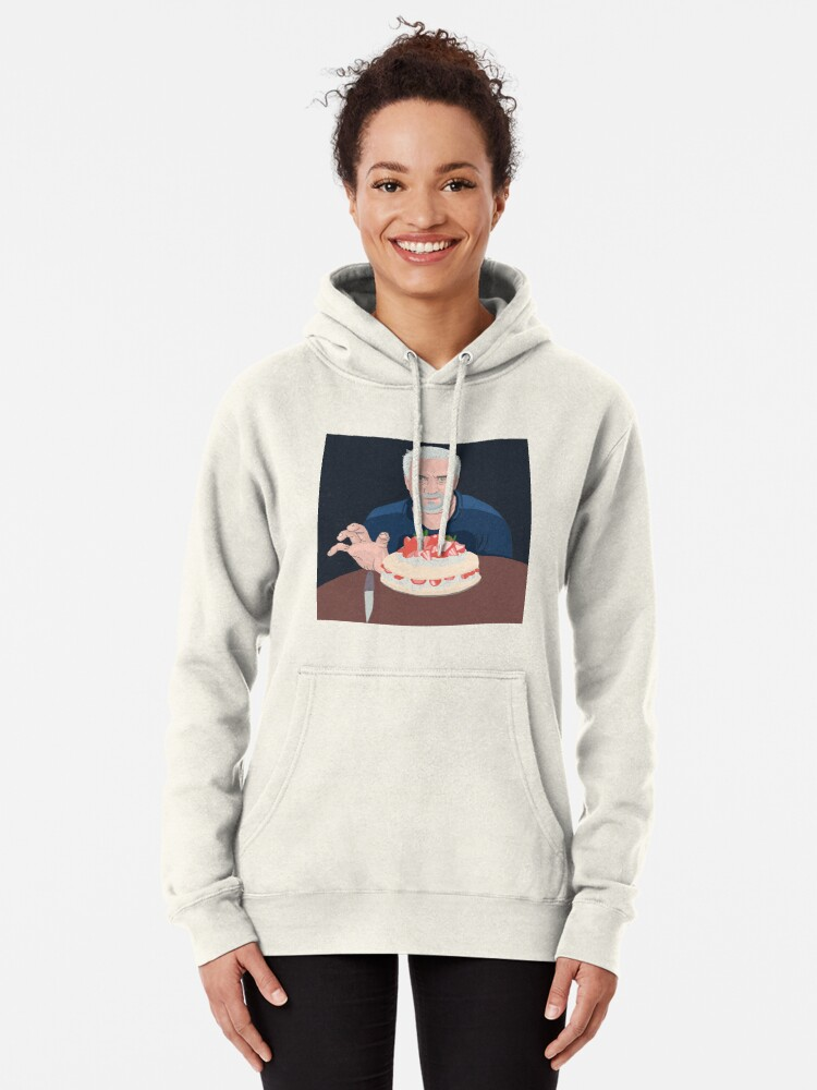 Alternate view of Paul Hollywood is hungry Pullover Hoodie